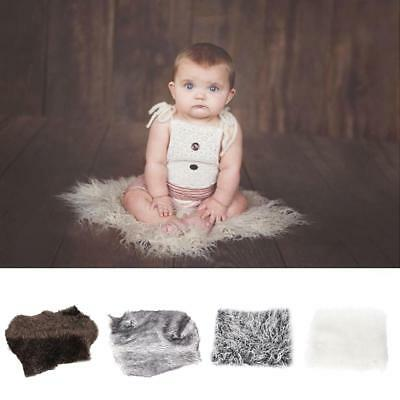 Newborn Baby Faux Fur Blanket Basket Stuffer for Photography Photo Props