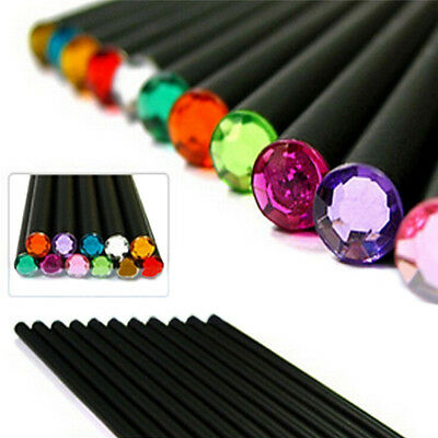 12Pcs Pencil HB Diamond Color Pencil Stationery Cute Pencils Drawing Supplies JB