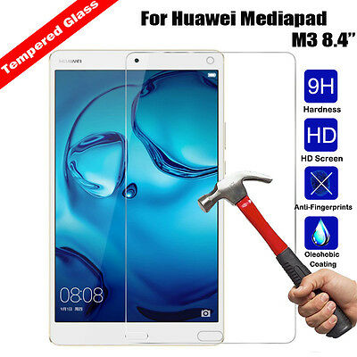 9H Real Premium Tempered Glass Screen Protector Film For Huawei Mediapad M3 8.4