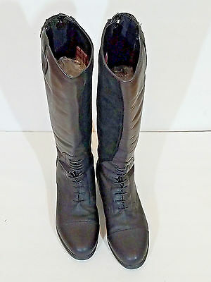 Ariat Women's Tall Black Leather Insulated Water Proof Riding Boot Permaloft 8B