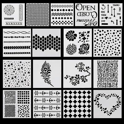 Layering Stencils Templates for Scrapbooking Drawing DIY Wallpaper Home Decor AU