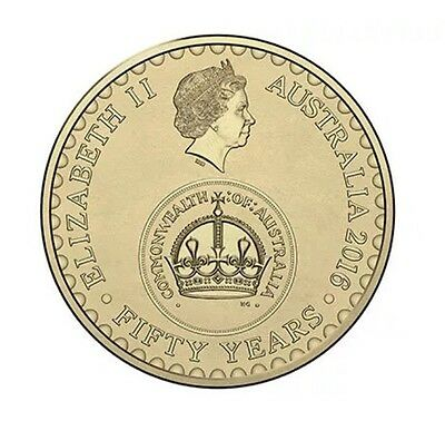 2016 Australia 50th Anniversary of Decimal Currency Two Dollar $2 Coin UNC