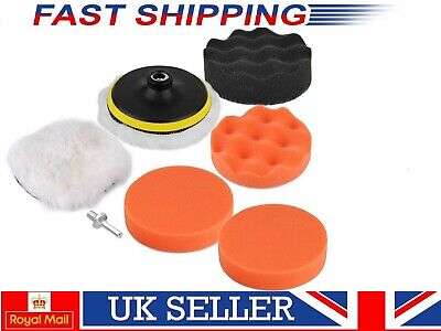 3.3 in Gross Polisher Buffer Pad Kit Polish With Drill Adapter For Car Polishing