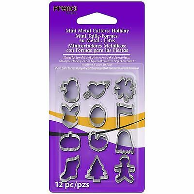 Sculpey - Premo Mini Metal Cutters - 12  Pieces - Holiday