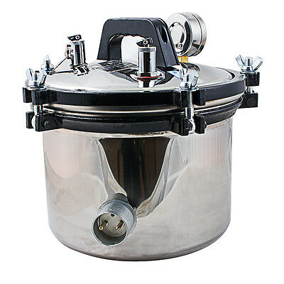 DENTAL Steam Autoclave Sterilizer sterilization 8L lab Equipment portable CE