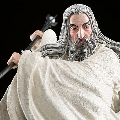 THE HOBBIT SARUMAN THE WHITE AT DOL GULDUR THE WETA CAVE delivery NOW IN STOCK !