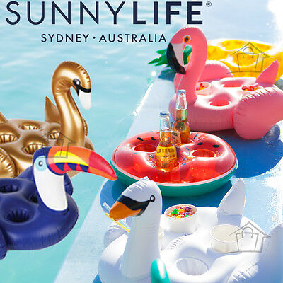 NEW SunnyLife Inflatable Drink Holder Holds 4 Drinks Swimming Pool Float