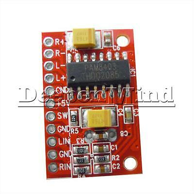 2 Channel DC 5V 3W Power PAM8403 Class D Mini Audio Amplifier Board For MP3 MP4