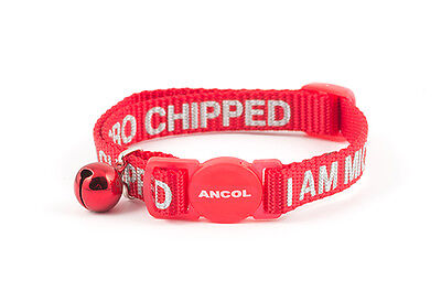 ANCOL CAT COLLAR (I am MicroChipped) with or without ENGRAVED ID TAG