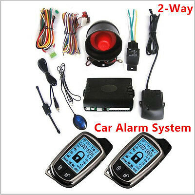 2 Way Car Alarms Security System With LCD Long Distance Controlers Anti-theft