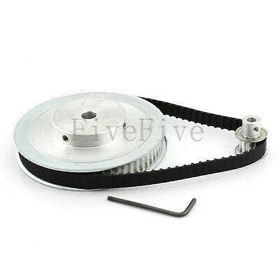 XL 60/10 Tooth 5.08mm pitch Timing Pulley Belt set kit Reducer Ratio 6:1 For CNC