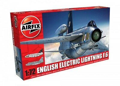 AIRFIX English Electric Lightning F6 1:72 Scale Plastic Kit - NEW - RRP £18.99