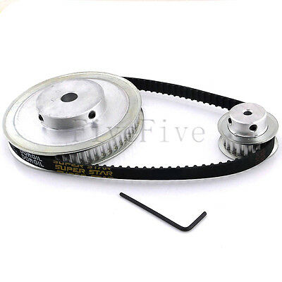 XL 60/20 Tooth 5.08mm pitch Timing Pulley Belt set kit Reducer Ratio 3:1 For CNC