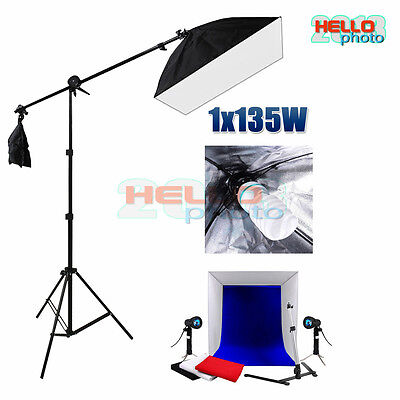Photo Studio Softbox Lighting Backdrop Cube Tent Video Soft Box Light Stand Kit