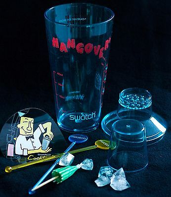 Swatch Hangover cocktail shaker swizzle sticks ice cubes - watch not included
