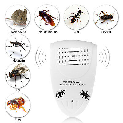 Electronic Ultrasonic Anti Mosquito Pest Bug Insect Rat Killer Magnetic Repeller