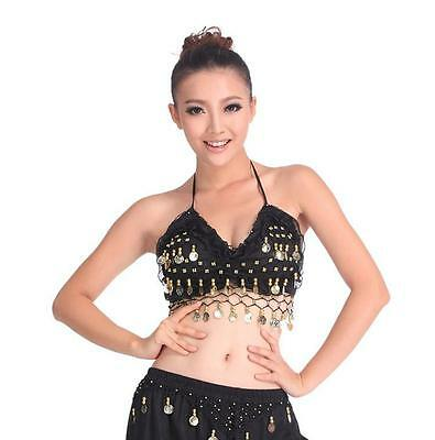 SALE CHEAP belly dance costumes Top Bra gold coins Halter Vest