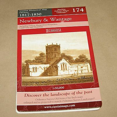 Newbury & Wantage  1817-1830  Map 174   Old Series Historical Map Cassini