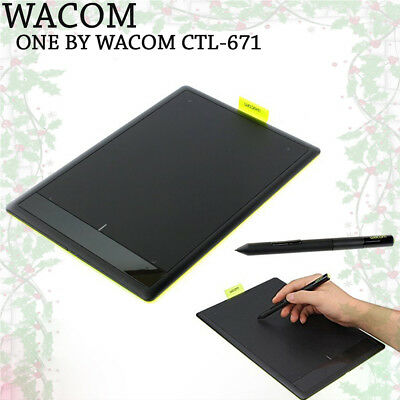 100% New WACOM ONE CTL-671 Drawing Tablets for PC Windows Mac / + 50 Spare Nibs