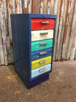 Metal Filing Drawers Vintage Cabinet Industrial Office Upcycled Loft Living