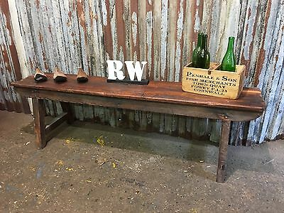 Vintage Old Antique Reclaimed Pine Hallway Seating Boot Bench Farmhouse Rustic