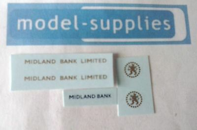 Dinky 280 Midland Bank reproduction decal set
