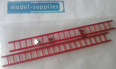 Triang Minic 62M Fire Engine reproduction plastic ladders with tin clips set