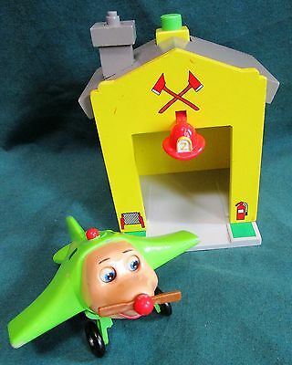 Jay Jay The Jet Plane Tarrytown  Airport Wood/plastic Snuffy Airplane& Firehouse