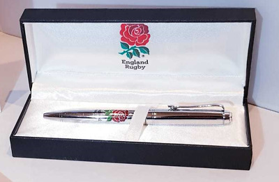 England Rugby Executive Pen in Gift Box - Chrome Ball Point Pen -Ideal Xmas Gift