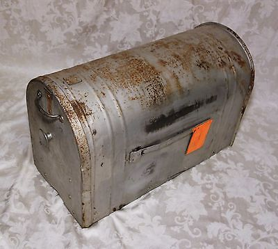 Old Farm Mailbox Authentic Vintage Jumbo Galvanized Steel Rusty Patina Country