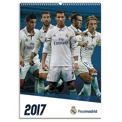 Real Madrid FC Football Club Calender 2017 Fan Soccer Players Official