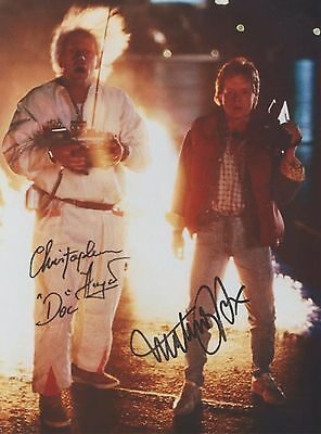 Back To The Future Michael J. Fox Christopher Lloyd RARE DUEL-SIGNED RP 8x10!!!