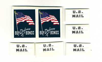 """Buddy L  U.S. Mail """" Buy Defense Bonds """" Replacement Decal Set"""