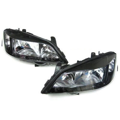 Vauxhall Astra G Mk4 1998-2004 Black Headlights Headlamps 1 X Pair Left & Right
