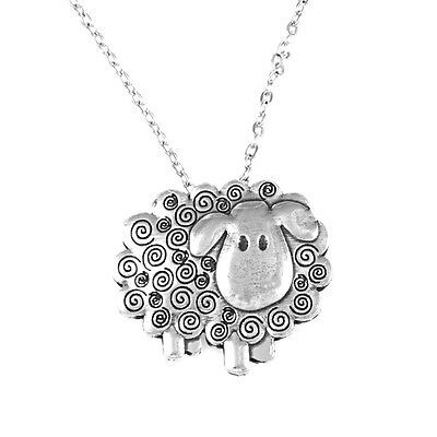Swirley Shirley Sheep Pendant in Cornish Pewter by St.Justin PN 189