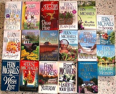 # 2 - 17 Fern Michaels Romance Books No Doubles Free Shipping