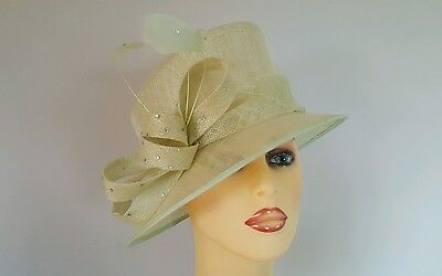 f9475784 Ladies Occasion Wedding Mother Bride Races Hat Pale Mint Green By Balfour