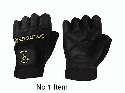 Gold's Gym Max Lift Leather Weight Lifting Gloves Body Building Training