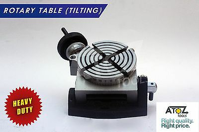 "3 "" Inch Rotary Table Tilting Horizontal Vertical Diy Machinists Use"