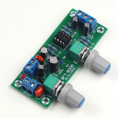 Preamplifier Board NE5532 DC10-24V Subwoofer Preamp Low Pass Filter Plate