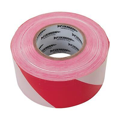 Barrier Tape - 70mm X 500M Red/White Safety For Marking Out Hazardous Areas