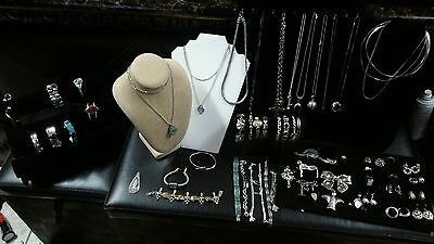 All Wearable Sterling Silver Jewelry Lot