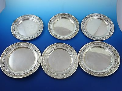 Set of 6 Sterling Silver Bread & Butter Plates by Randahl (#2938)