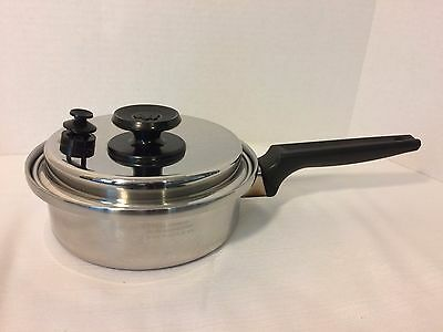 Royal Prestige West Bend 1qt Saucepan 7-ply Stainless Steel Waterless Cookware