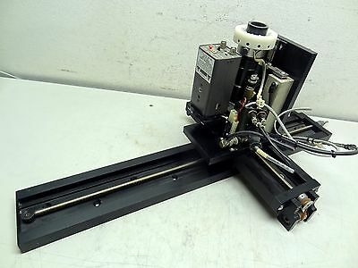 Velmex X Y Linear Screw Magnified Optical / Ccd Camera Drive Rail Stage Assembly