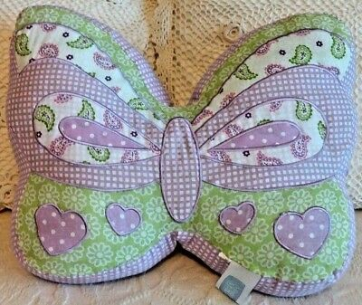 "Maggie Miller 16"" Butterfly Decorative Pillow Purple Green Child Baby Nursery"