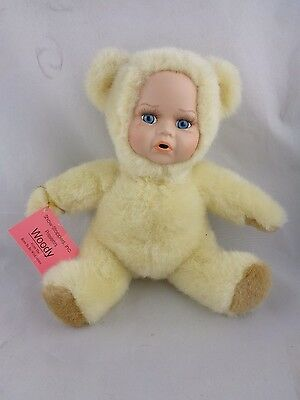 Show-Stoppers Babes In The Wild Porcelain Face Plush Doll Animals WOODY Bear Cub