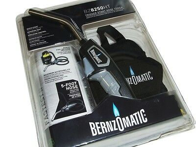 Bernzomatic Trigger Start Hose & Torch Kit With Fuel Holster Bz8250Ht