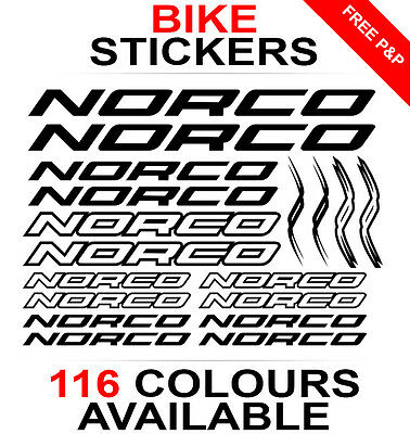Norco decals stickers sheet (cycling, mtb, bmx, road, bike) die-cut