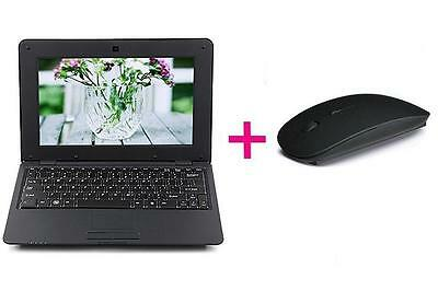 "Black 10"" NETBOOK MINI LAPTOP ANDROID 4.4 VIA WM8880 1.5GHz NOTEBOOK 4GB + Mouse"